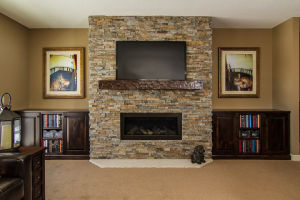 18 Walkout Level Family Room Fireplace